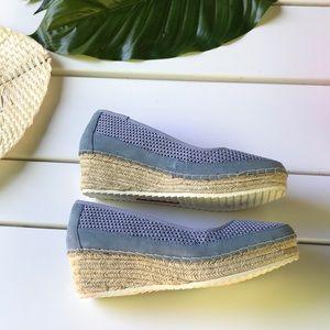 Tommy Bahama 🌴 Blue Sandal Wedge Shoes 8.5